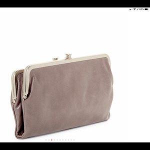 Hobo bifold lauren wallet clutch bag leather NEW